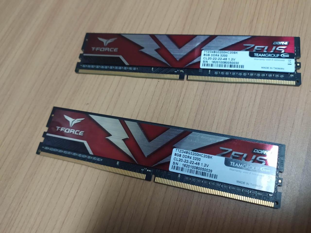 T-Force Zeus DDR4 16GB