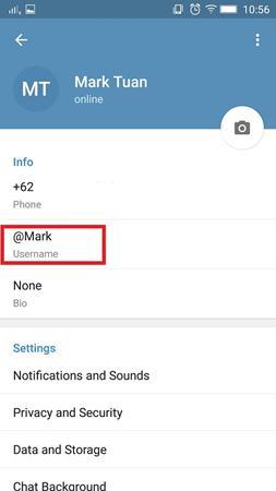 Cara Menentukan Username di Telegram 3