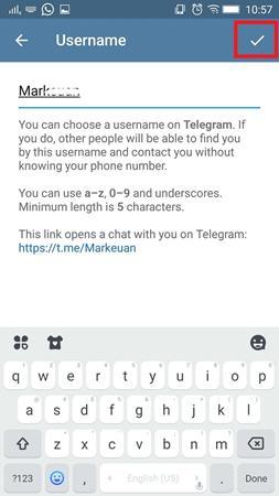 Cara Menentukan Username di Telegram 4