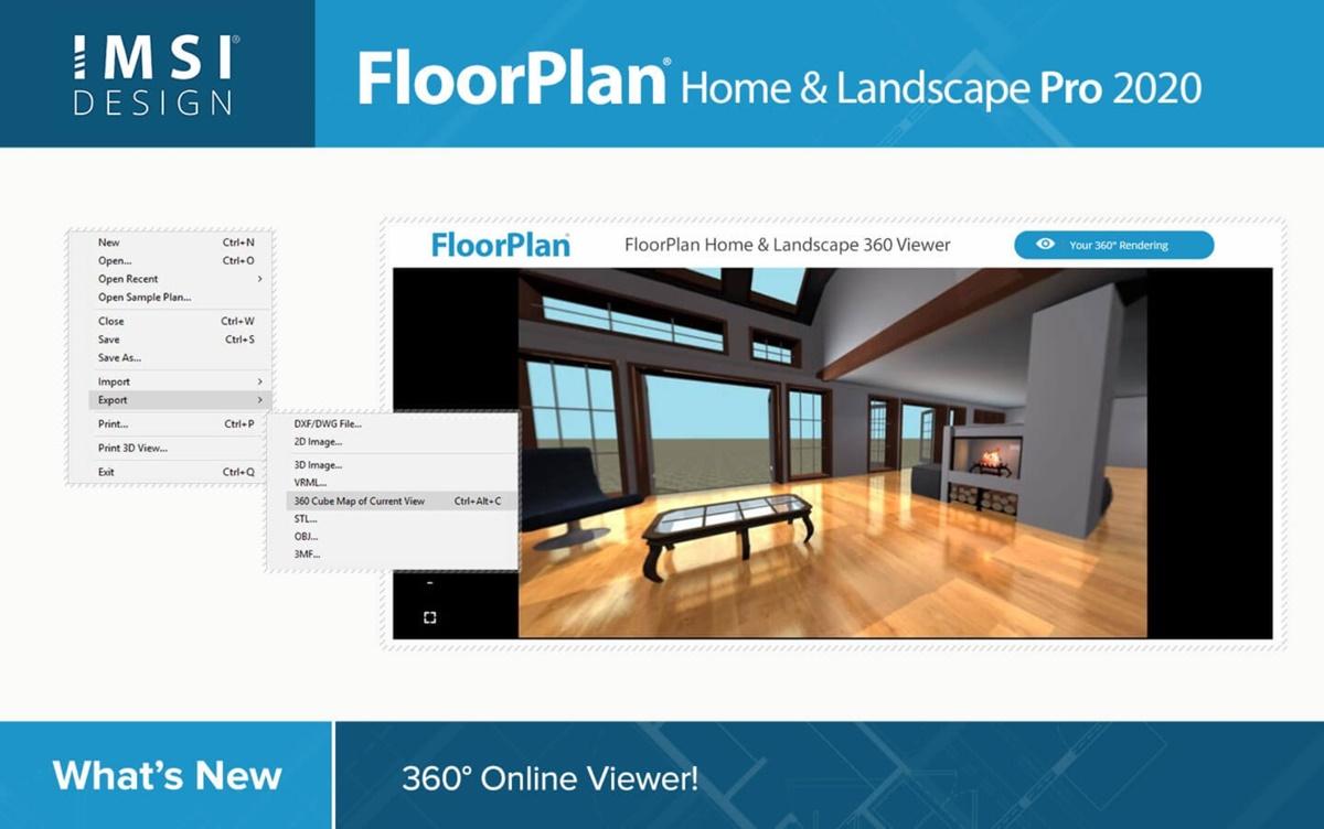 FloorPlan 2020 Home & Landscape Pro with Lightworks