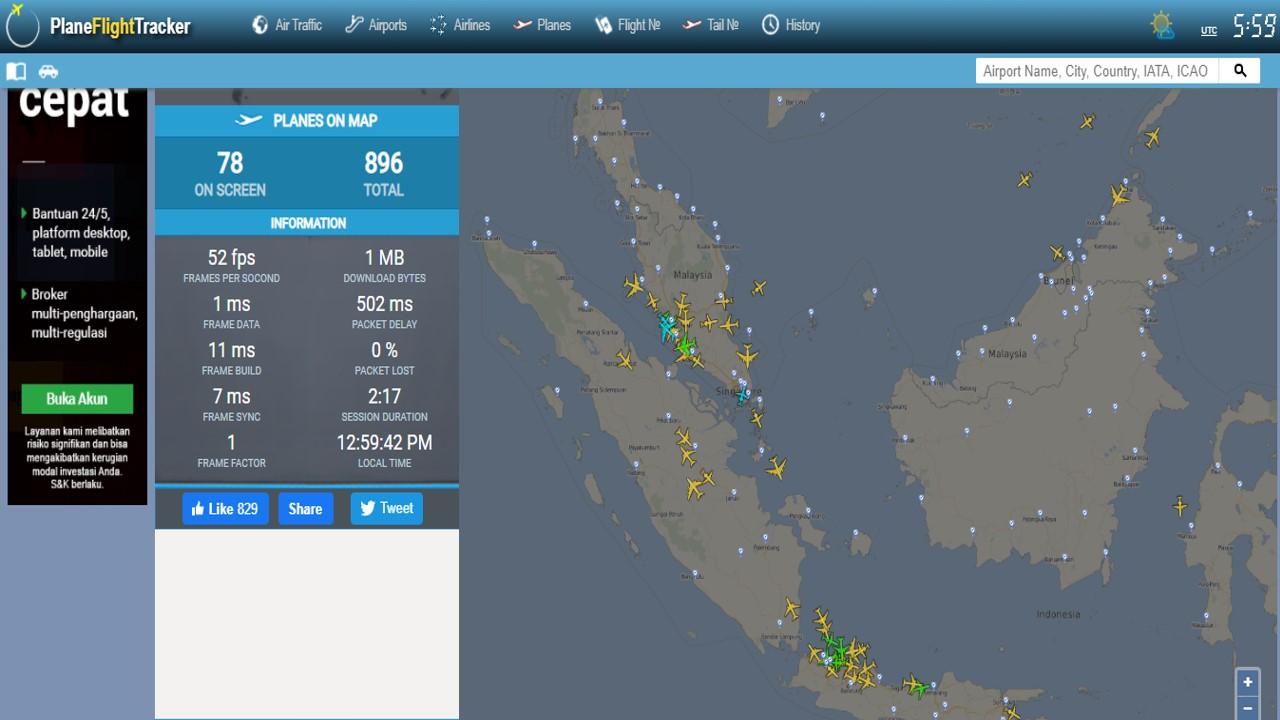 Plane Flight Tracker