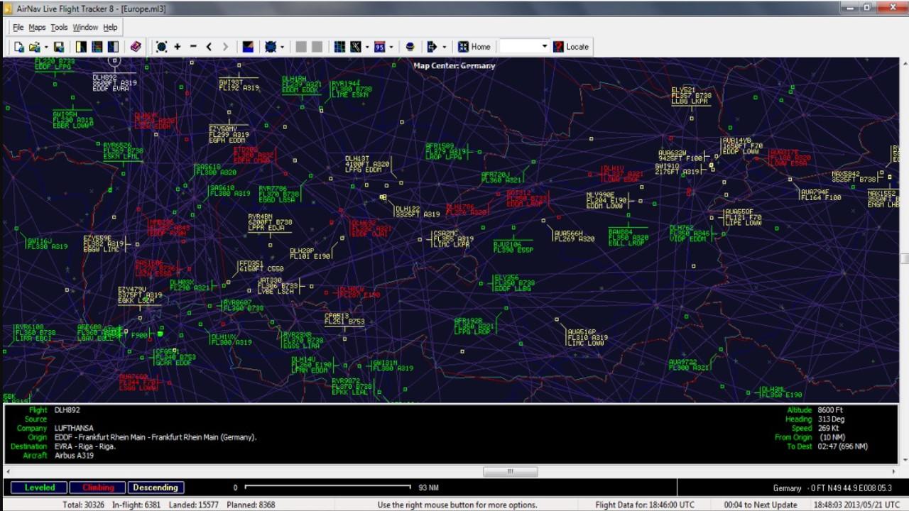 AirNav Live Flight Tracker