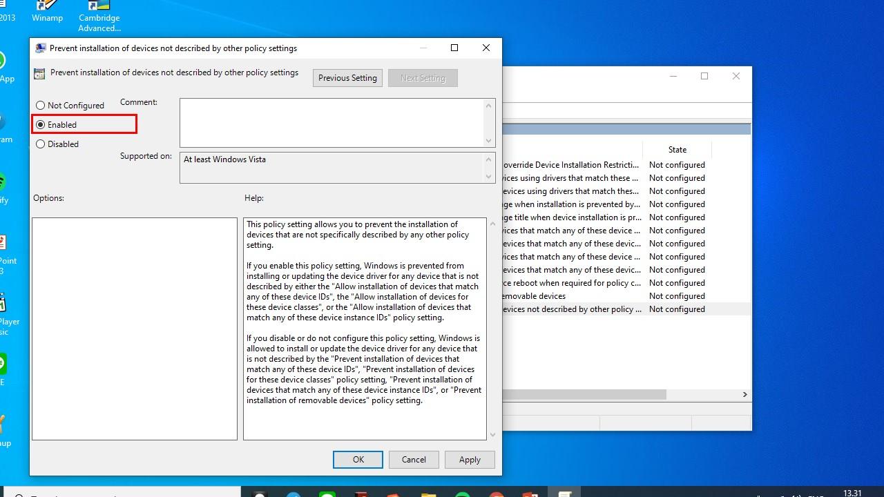 Tahap Terakhir Mematikan Keyboard Laptop GPEDIT