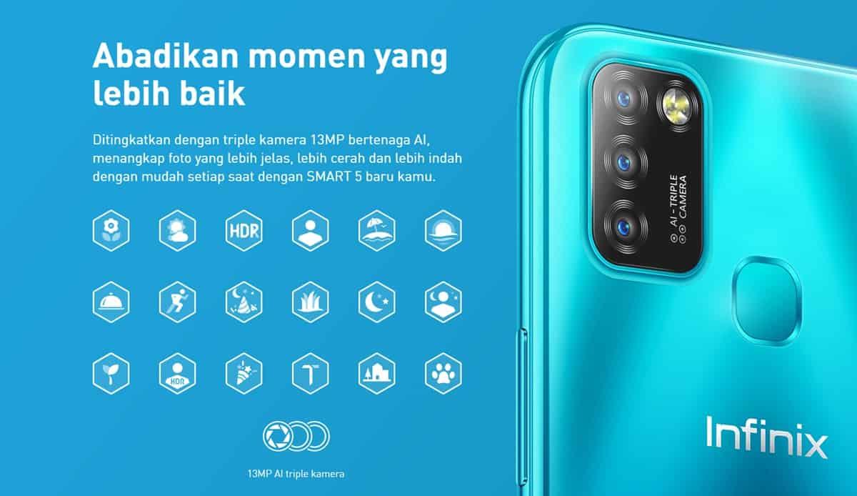 infinix smart 5 triple camera