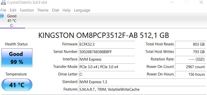 informasi SSD ASUS VivoBook Flip 14 TM420