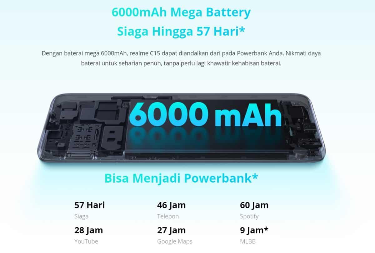 realme c15 baterai