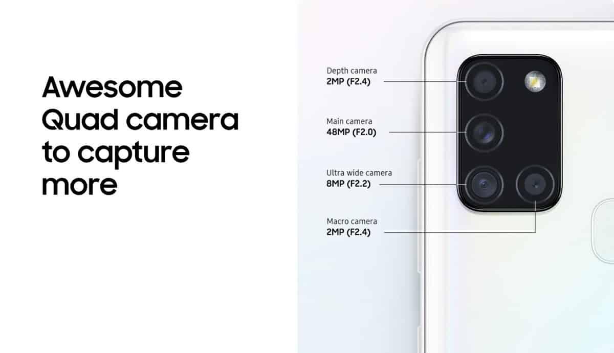 samsung galaxy a21s kamera
